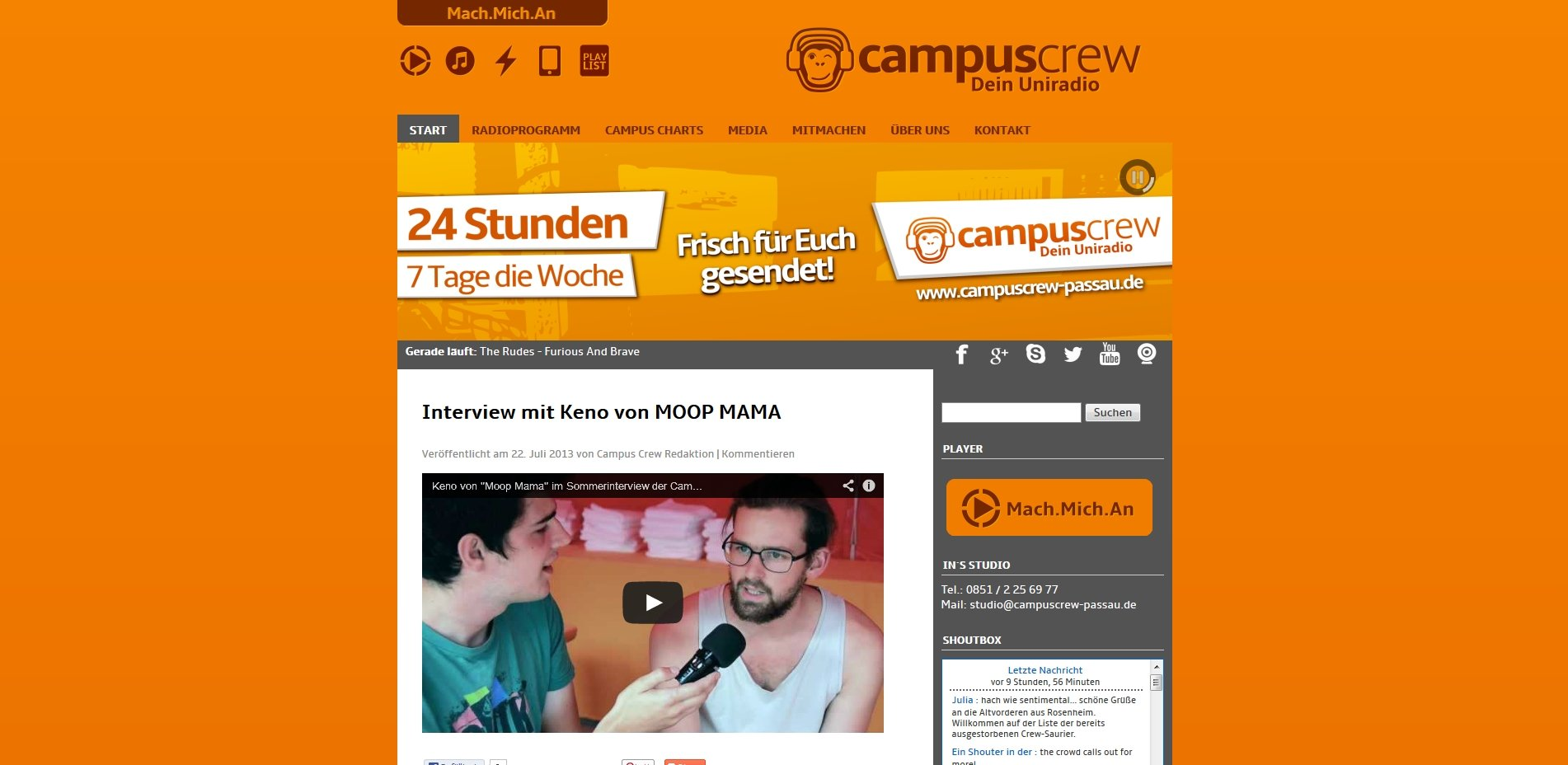 Campus Crew Homepage