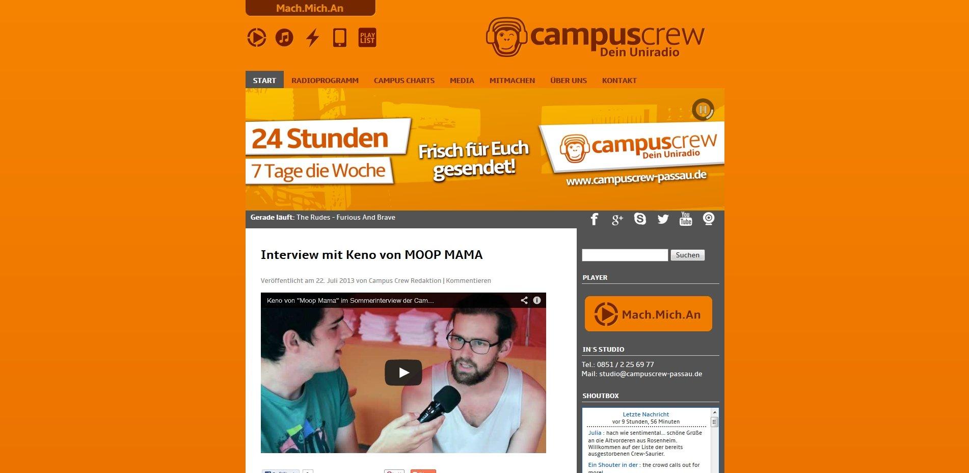 Campus Crew Homepage