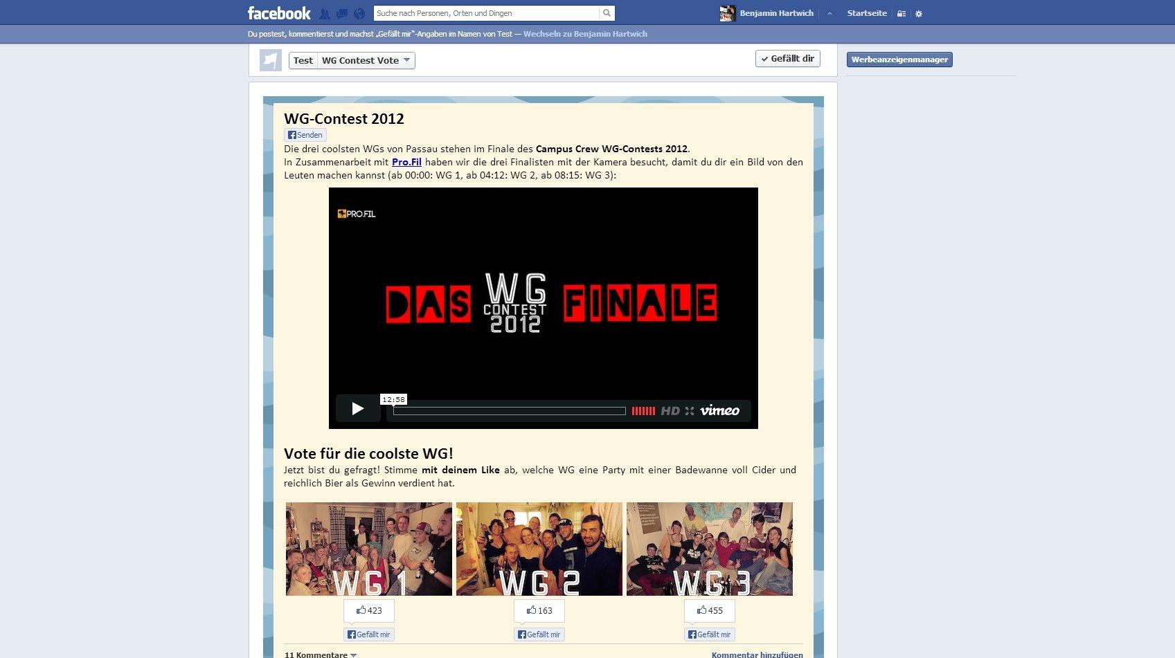 WG Contest App