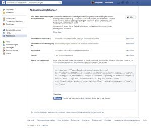Einstellungen Abonnements in Facebook